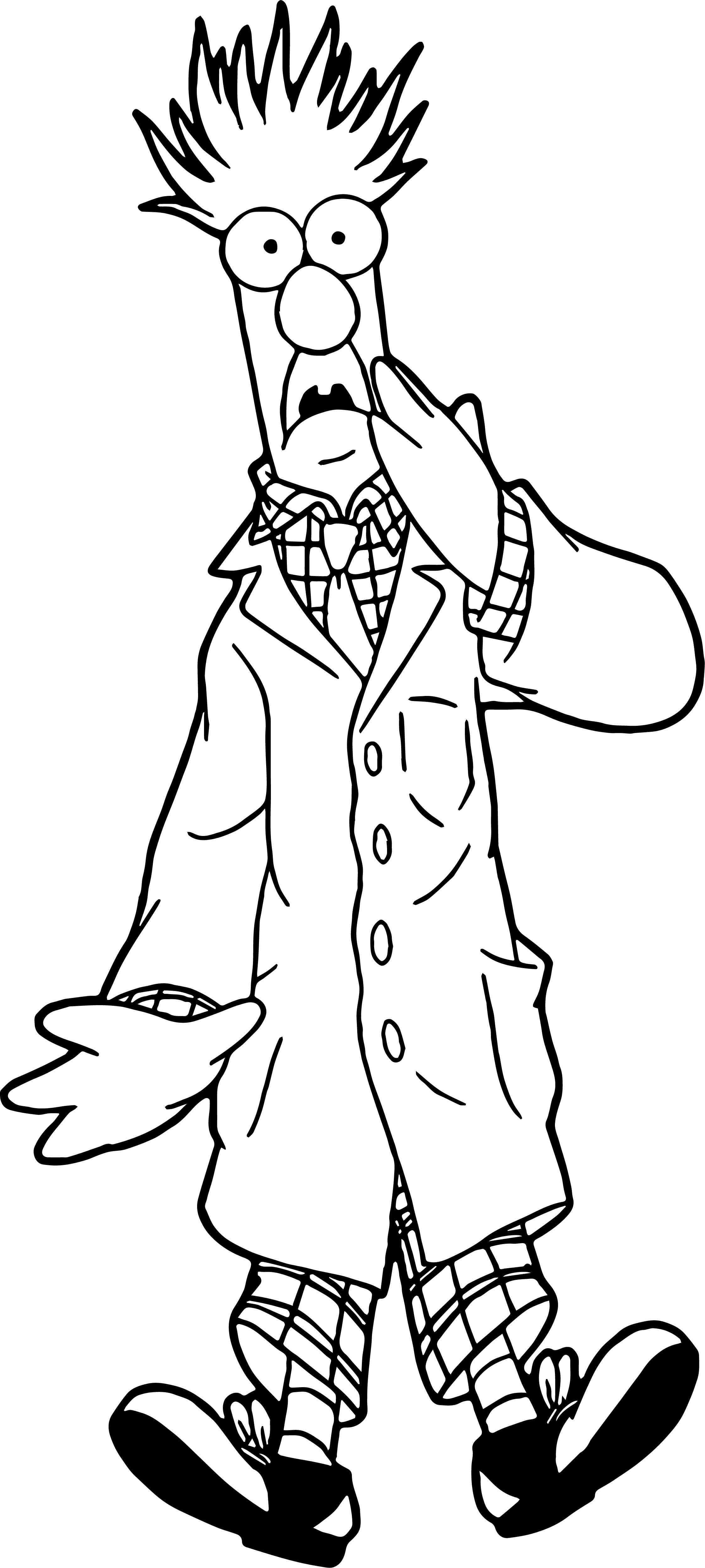 Cool The Muppets Beaker Coloring Pages Muppets Coloring Pages