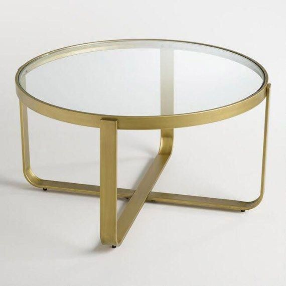 gold coffee table round typesofcoffee espresso shots table rh pinterest com