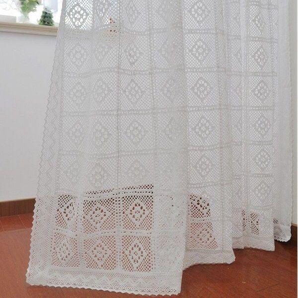 Crochet lace curtain--rather plain, but a lovely border.
