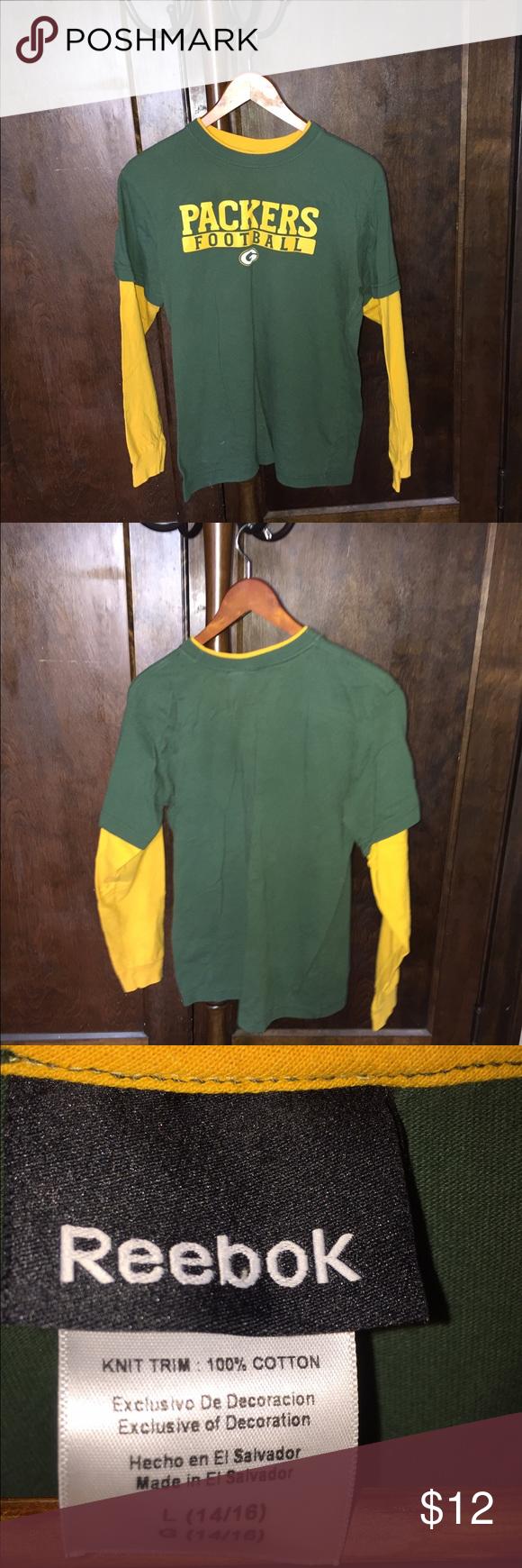 Green Bay Packers Tee Bundle (2) EUC Reebok Tops Tees - Long Sleeve