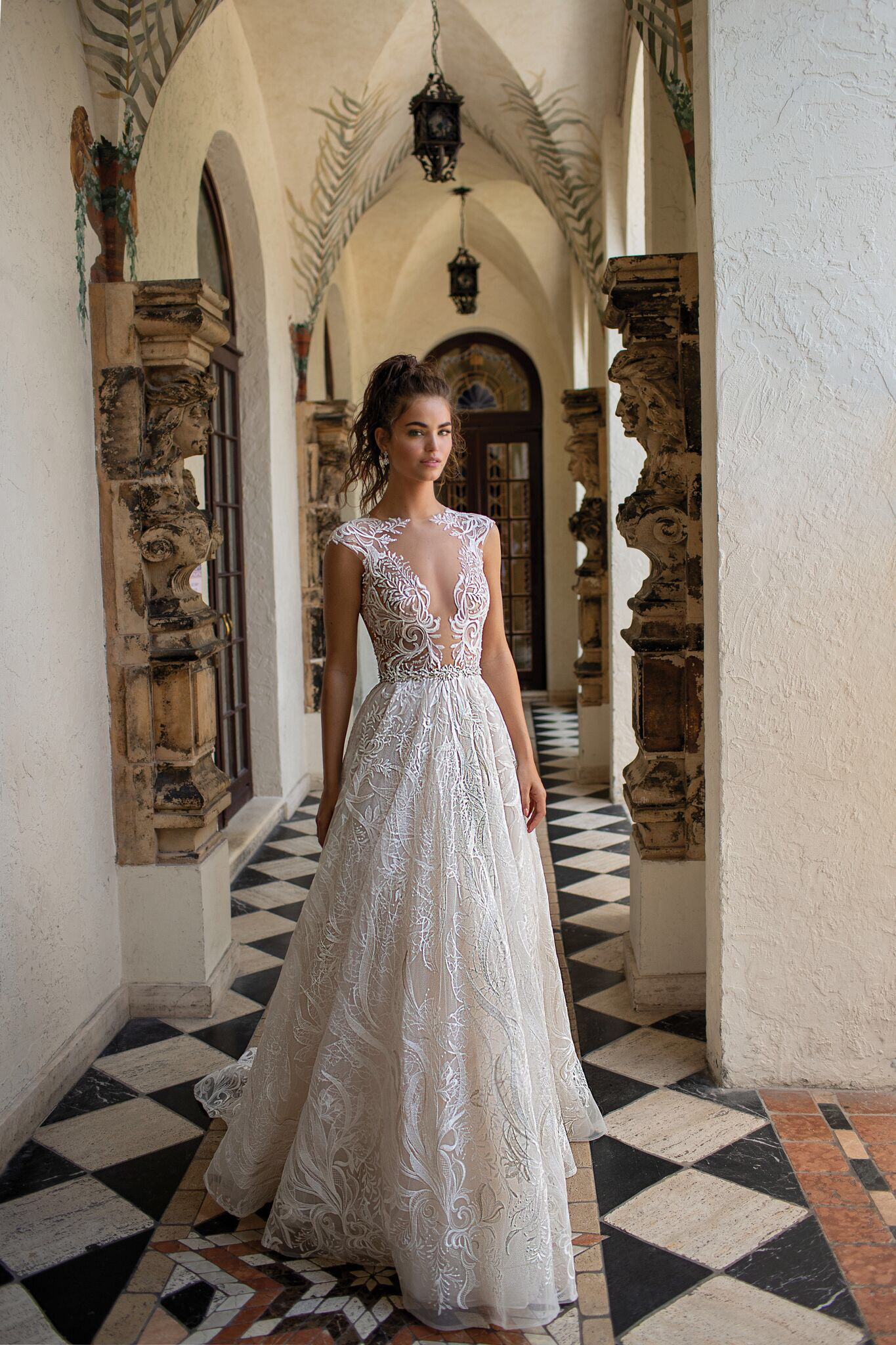 0a1a5125f357 Berta Miami Spring Summer 2019. Berta Miami Spring Summer 2019 Slit Wedding  Dress ...