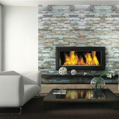 stack stone gas fireplace maybe not so wide but this shows a low rh pinterest com