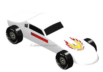 fastest pinewood derby car designs this pinewood derby firebird car full car - Pinewood Derby Car Design Ideas