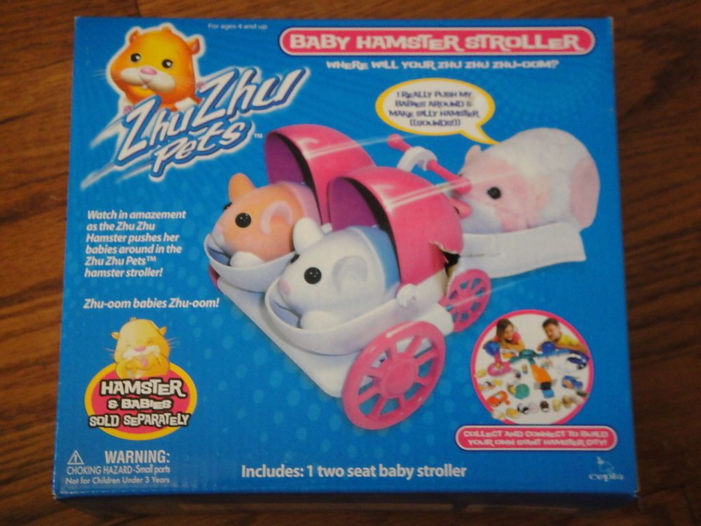 Zhu Zhu Pets Babies Baby Hamster Stoller New In Box In Toys Hobbies Electronic Battery Wind Up Electronic Inte Baby Hamster Baby Stroller Toys Hamster