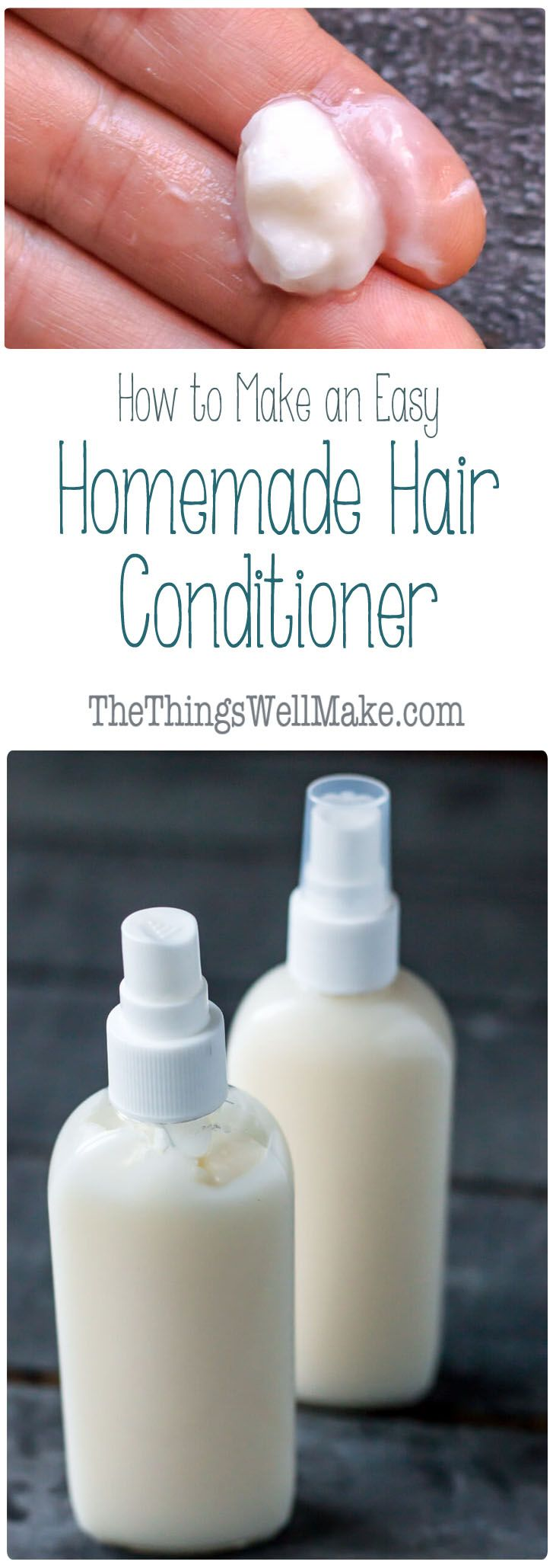 Easy Diy Hair Conditioner For Natural Hair Diy Hair Conditioner Homemade Hair Conditioner Homemade Hair Products