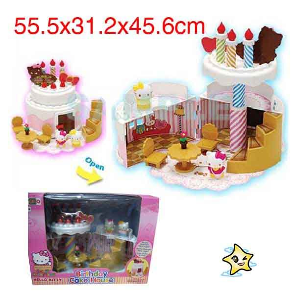 Hello Kitty Mini Birthday Cake House Dolls House Playset Carry