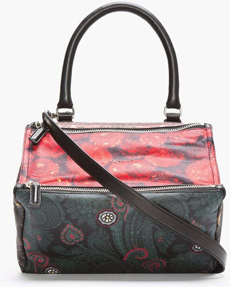f2660ac39542 Black Multicolor Patchwork Print Small Pandora Bag - Lyst Givenchy  Clothing