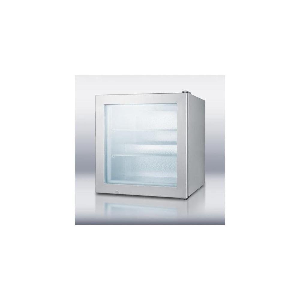 Summit Commercial Series Scfu386 24 Countertop Display Freezer Led