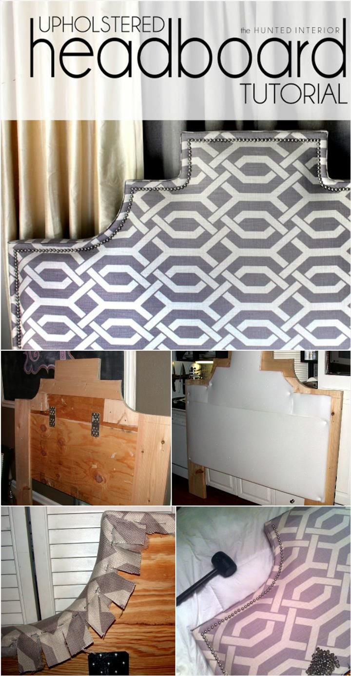 Stylish Upholstered Headboard with Accent Nail Head