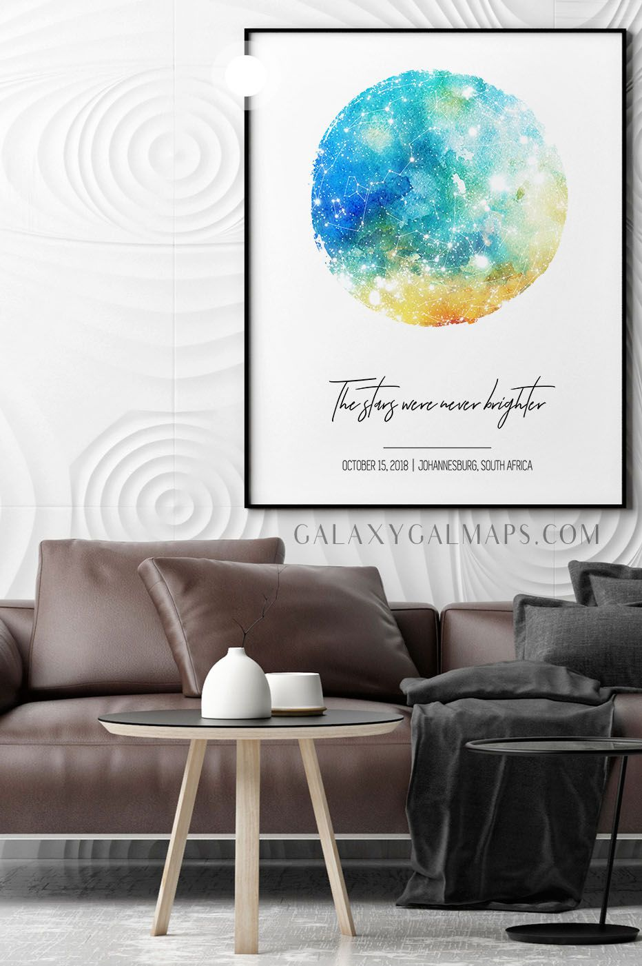 Photo of PERSONAL Sky Map  – winter poster print, Mens Jewelry, Baptism Printable, 20 X 2…
