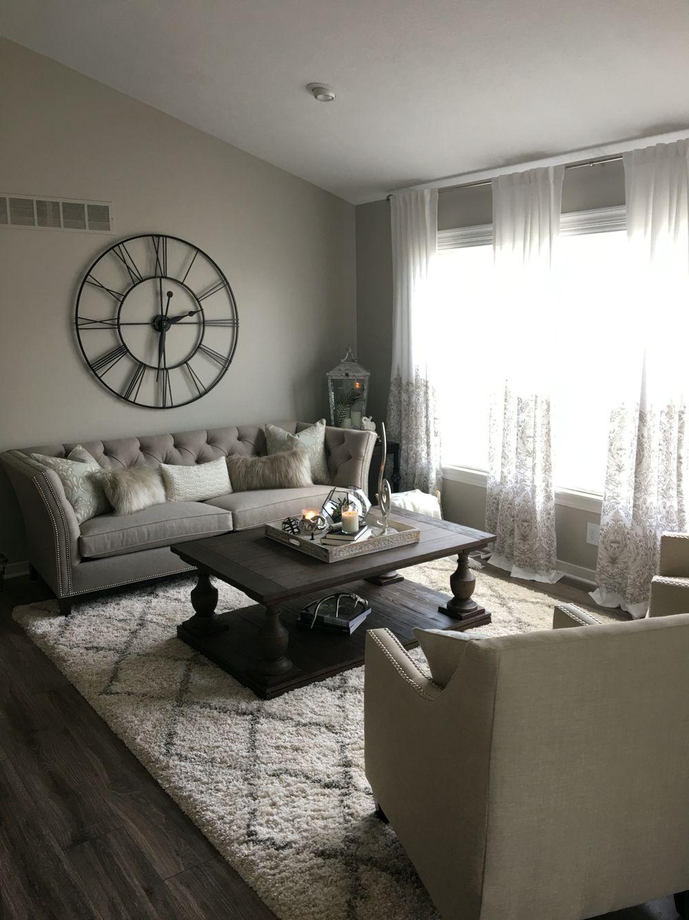 XXL wall clock. Shelton sofa. Living room. Cozy My dream
