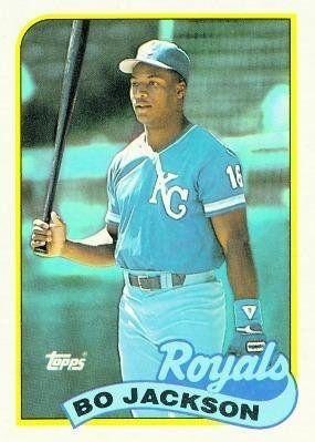 1989 Topps 540 Bo Jackson Kansas City Royals Baseball Cards By