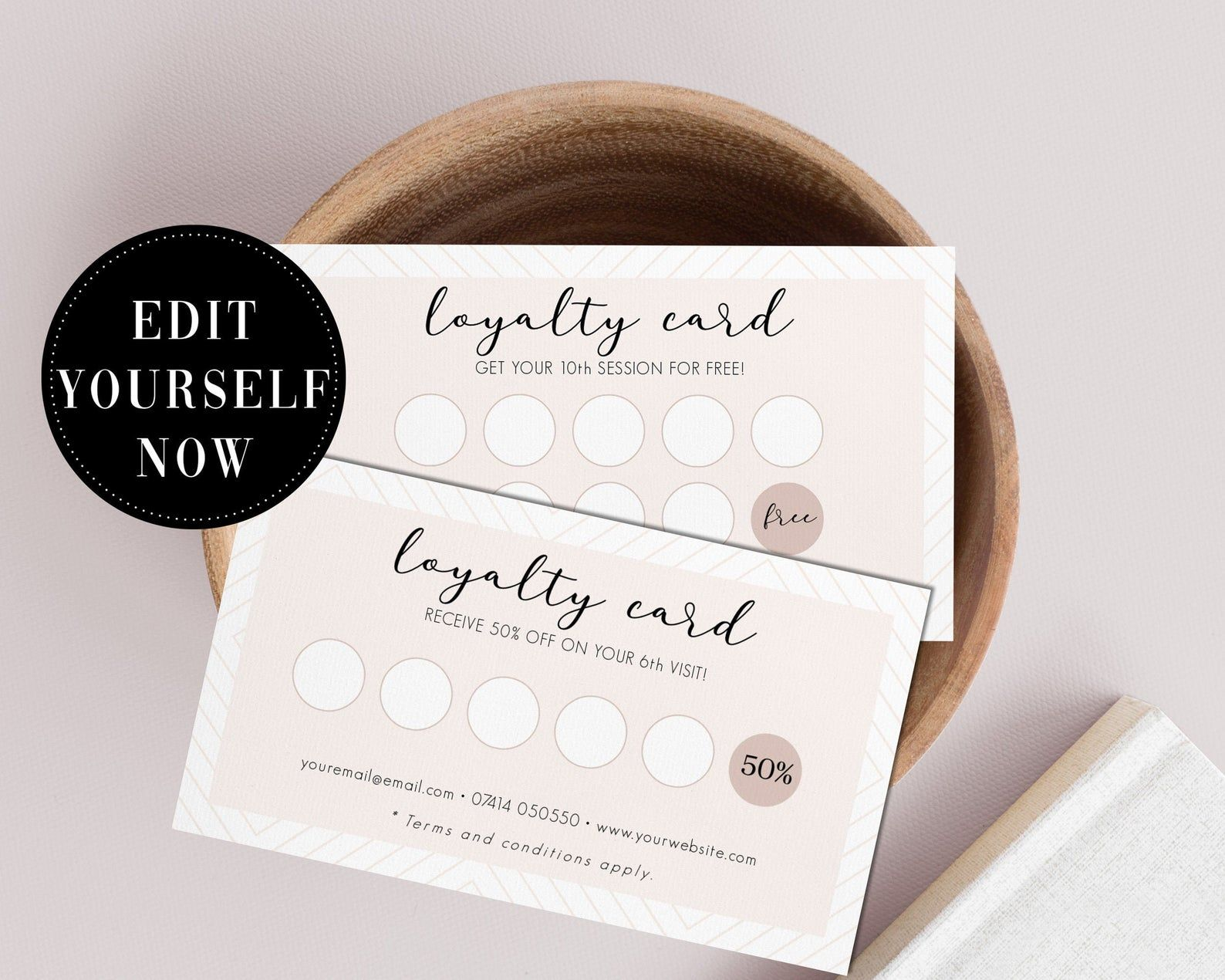Customer Loyalty Card Template Stamp Card Editable Card Etsy Shablony Vizitok Vizitki Vizazhistov Shablony