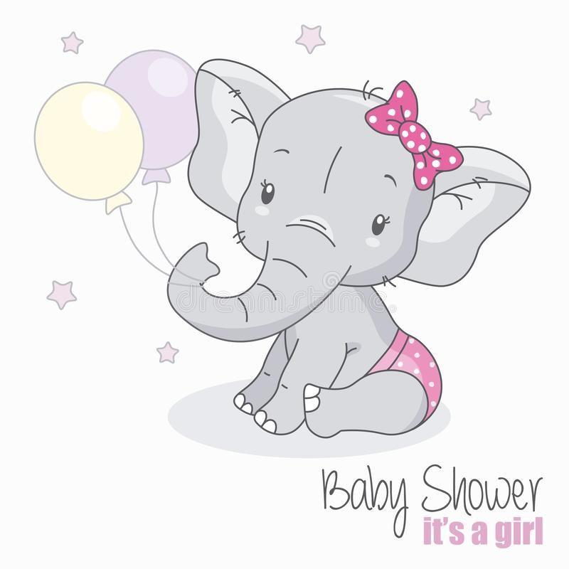 Elefante Lindo Con Los Globos Ilustracion Del Vector Ilustracion De Saludo Bebe 128364468 Dibujo Elefante Infantil Dibujo De Elefante Elefante Infantil