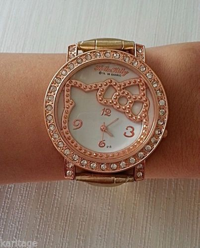 c02ba371d Gold Rose Gold Hello Kitty Watch | eBay | Hello Kitty | Rose gold ...
