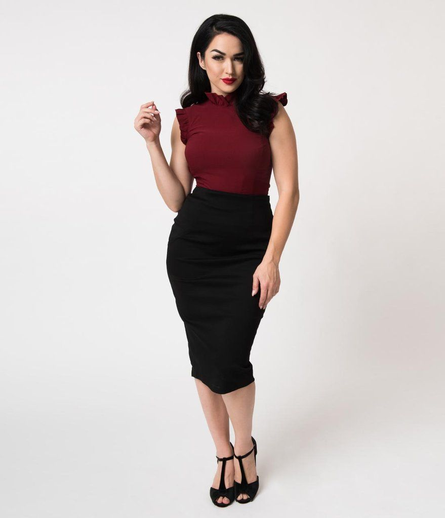 fd275a553ffc Black Stretch High Waist Tracy Wiggle Skirt in 2019   Must-have ...