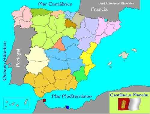 Mapa España Comunidades Autonomas Y Provincias.Algunos Recursos Para Primaria Comunidades Autonomas Y