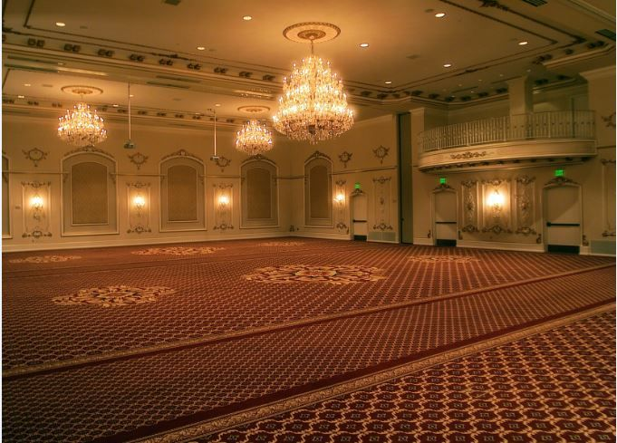 A view of the Grand Penington Ballroom.