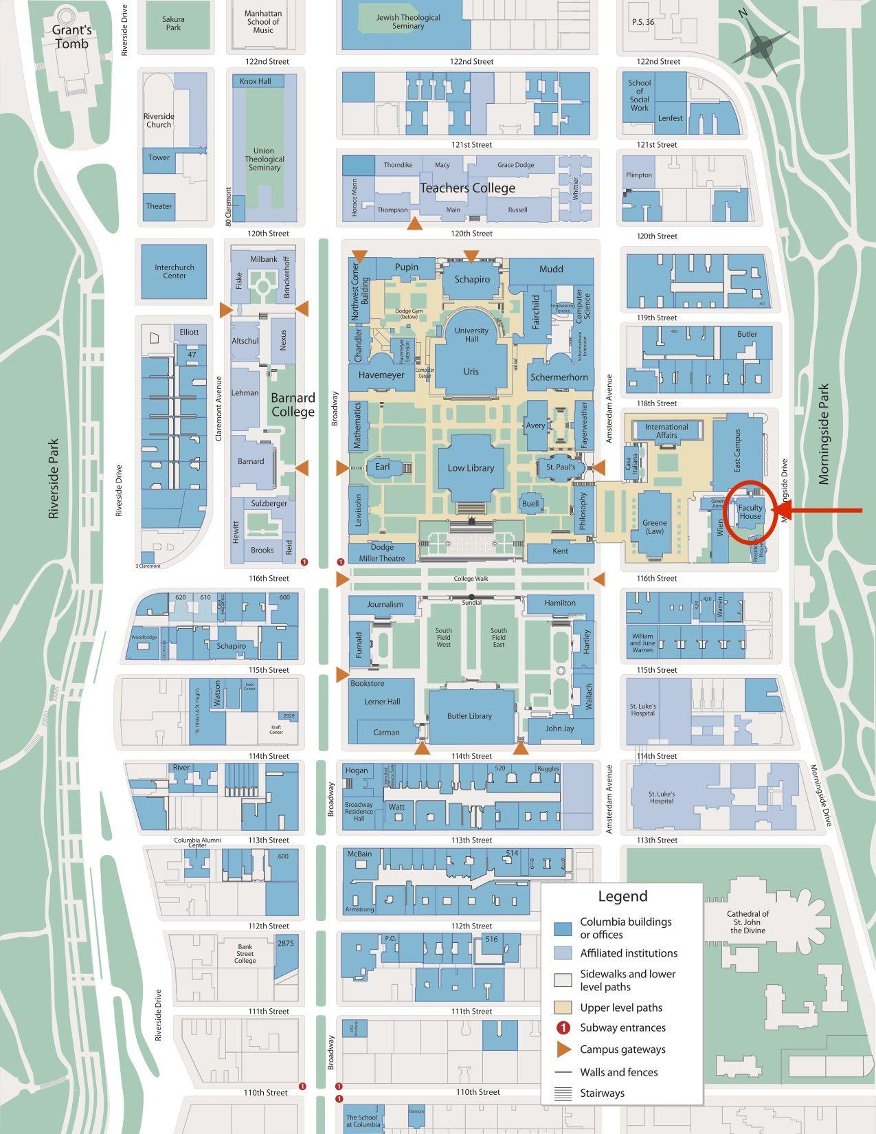 Campus Map 1275—1650 Art Post War II Modern Art