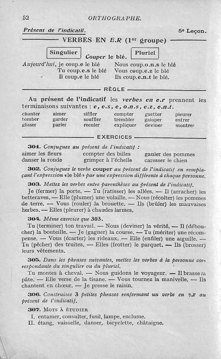 Bled Cours D Orthographe Ce Cm1 1956 Cm1 Orthographe