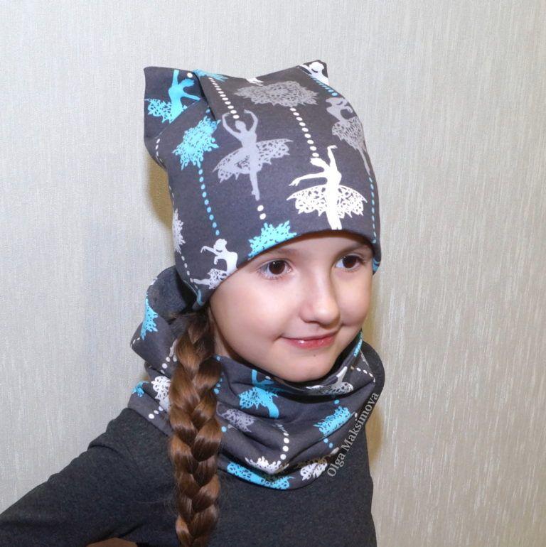 Сшить снуд и шапку для ребенка