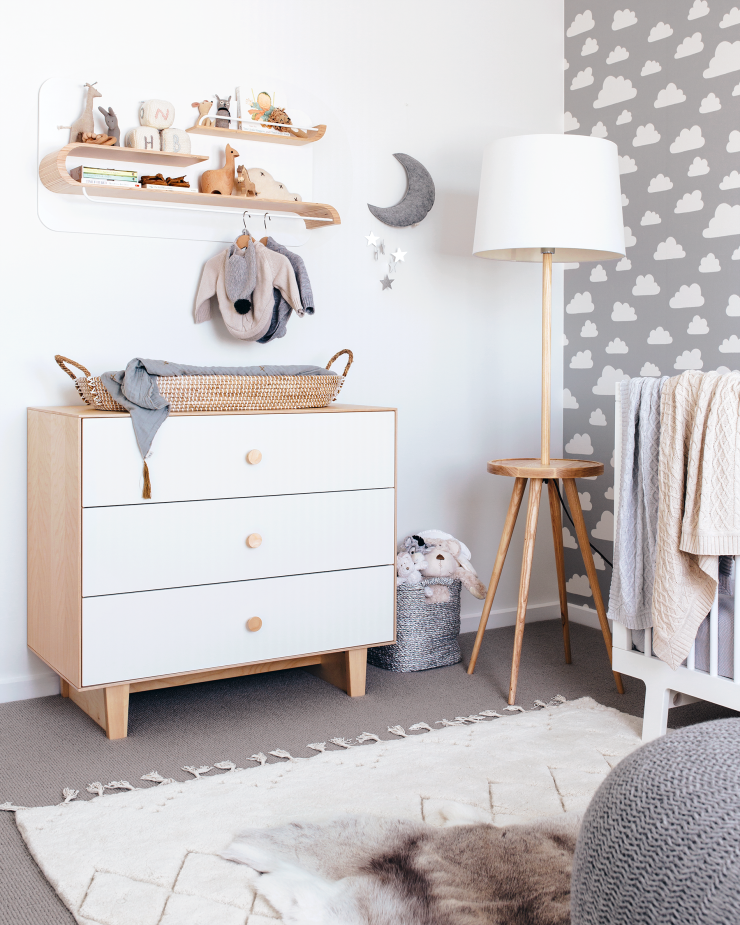 beautiful grey nursery with oeuf rhea dresser and sparrow crib rh in pinterest com