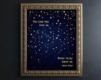 Dumbledore Quote Gold Foil Print Harry Potter Wall Art Harry Potter Quotes