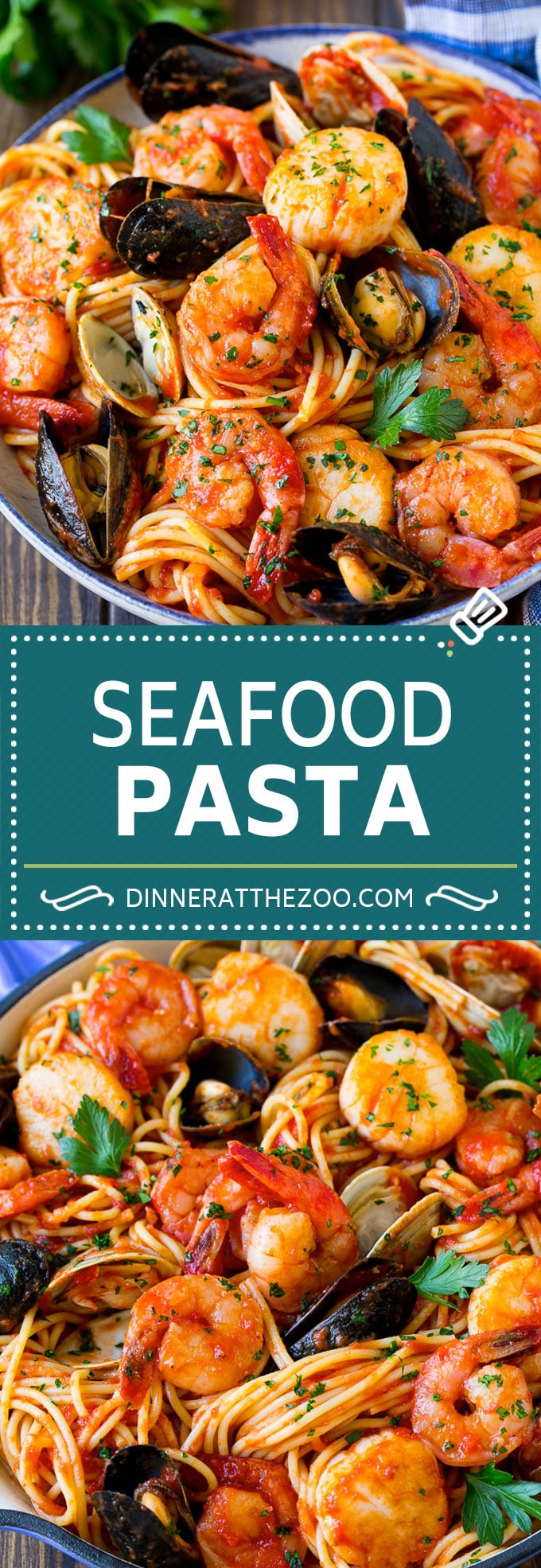Seafood Pasta Recipe - Dinner at the Zoo