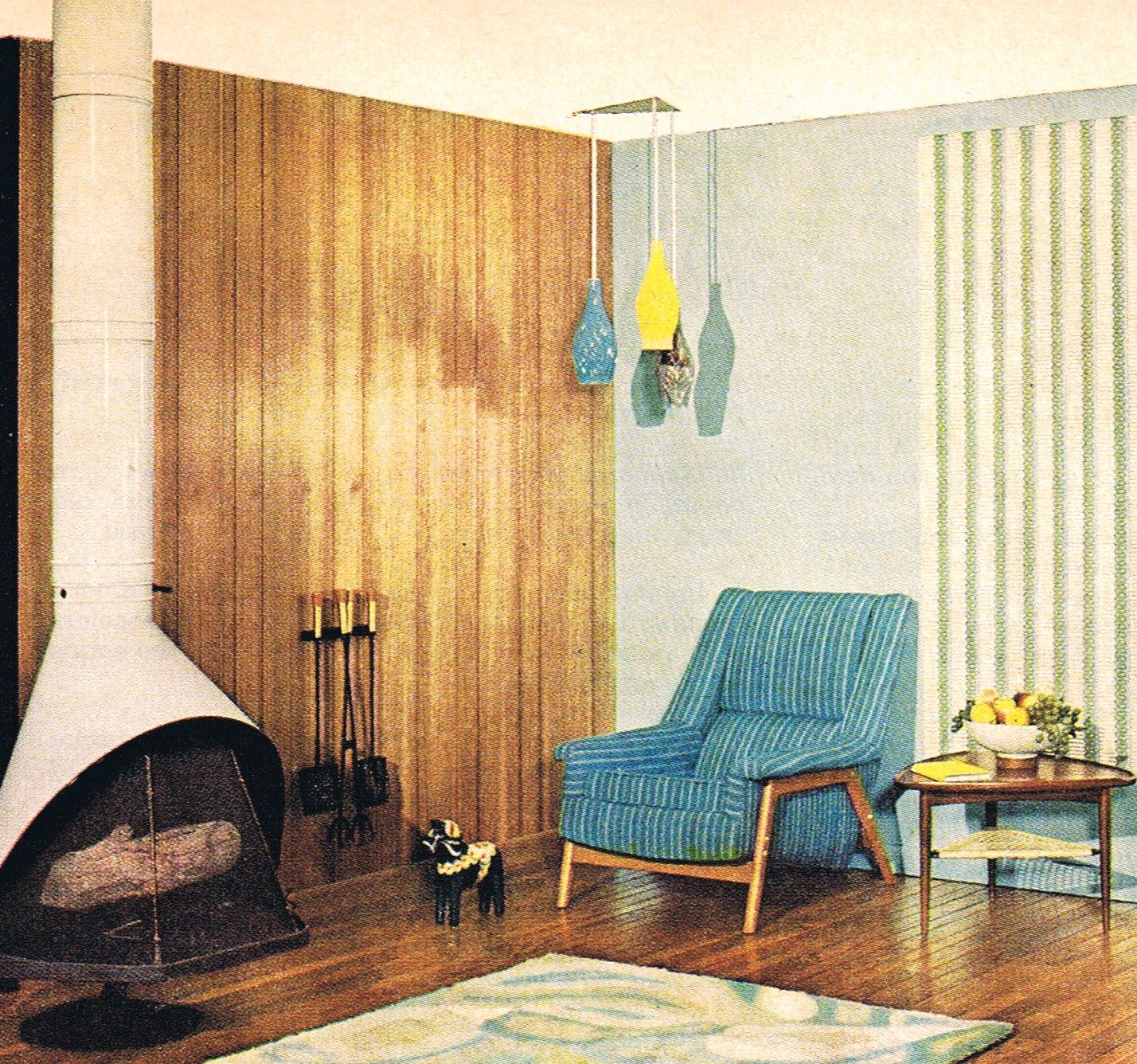 Danish Modern Living Room: Danish Modern... I Love The Lights!