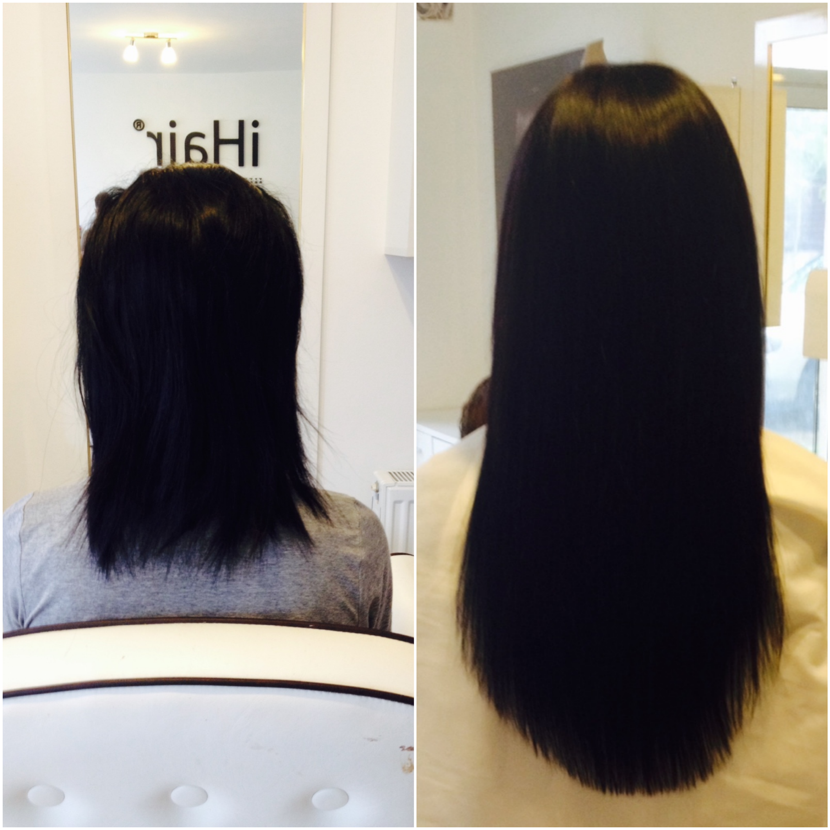 50 Cm 20 Inches Hairextensions With Natural Brown Color From The
