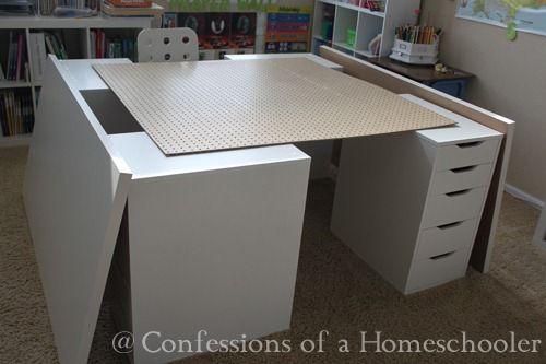 Home School Ikea Desk Confessions Of A Homeschooler