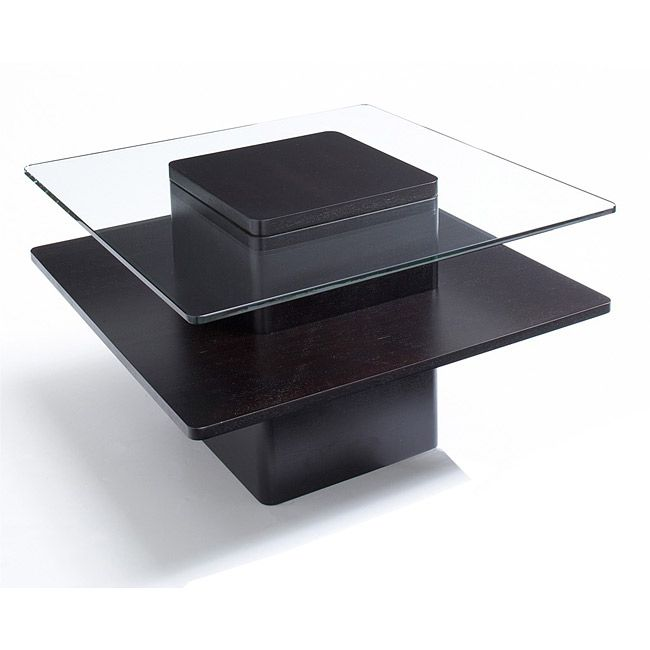 accent your living room set with this modern glass and dark coffee rh pinterest com