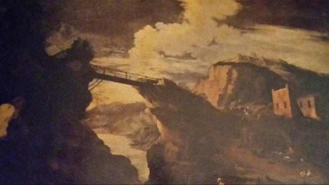 AGOSTINO TASSI ( Roma 1578 - 1644 ). PAESAGGIO CON PONTE. olio su tela. 58,5 × 88 cm. Finarte, Milano. Dipinti Antichi. Asta 1138. 16 / 05 / 2001. Estimate : 30.000 - 40.000  €.
