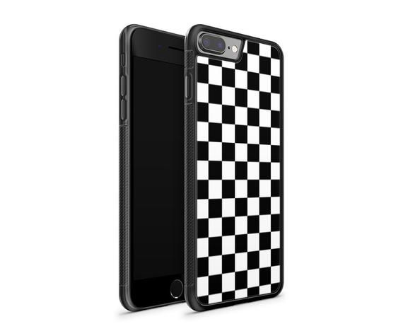 finest selection 33a3a b5ef9 Checkered Phone case / iPhone 7 case / iPhone 7 plus case / iPhone 8 ...
