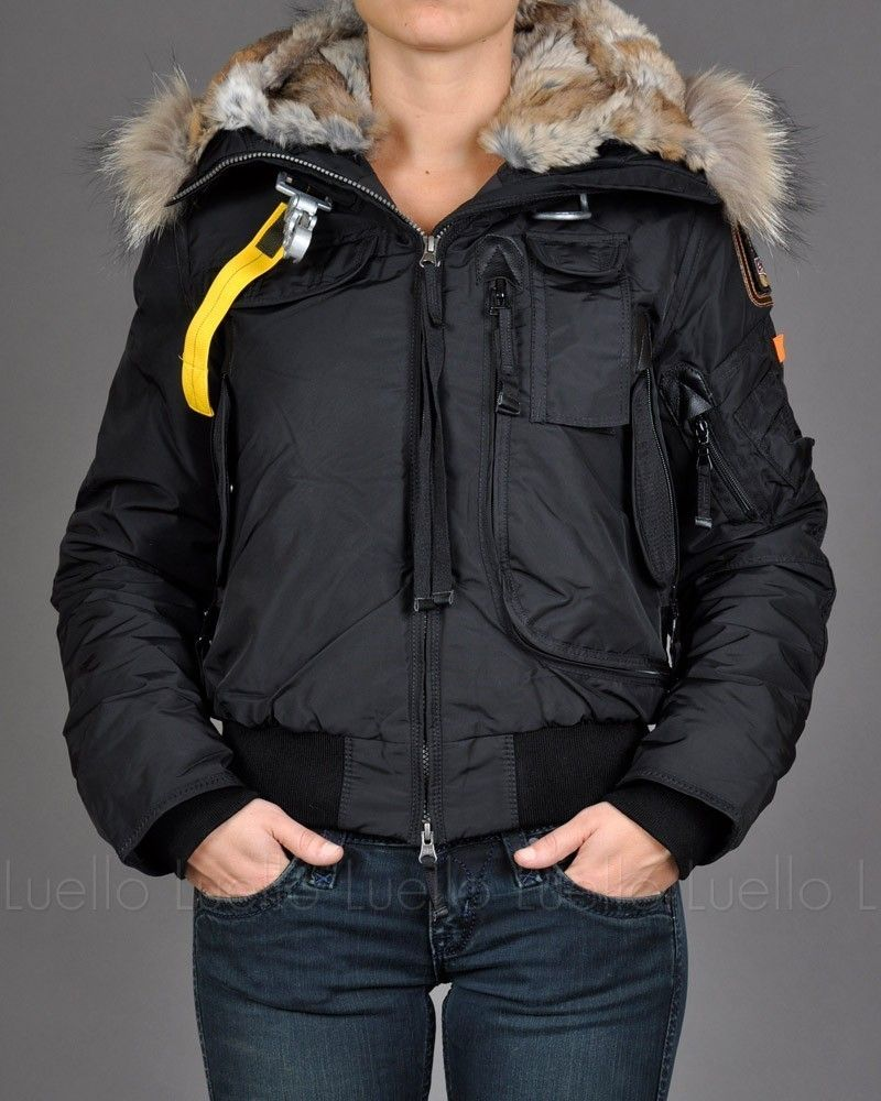 Parajumpers Gobi Bomber Down Jacket Black Women