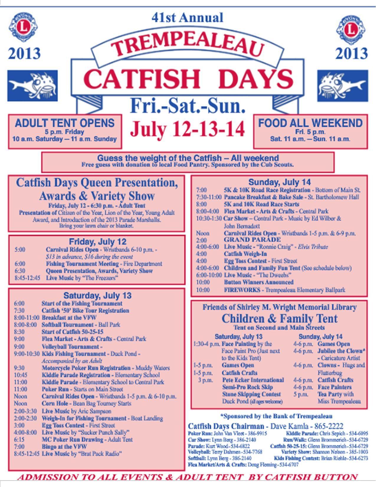 Catfish days july 1214 2013 in trempealeau wi day