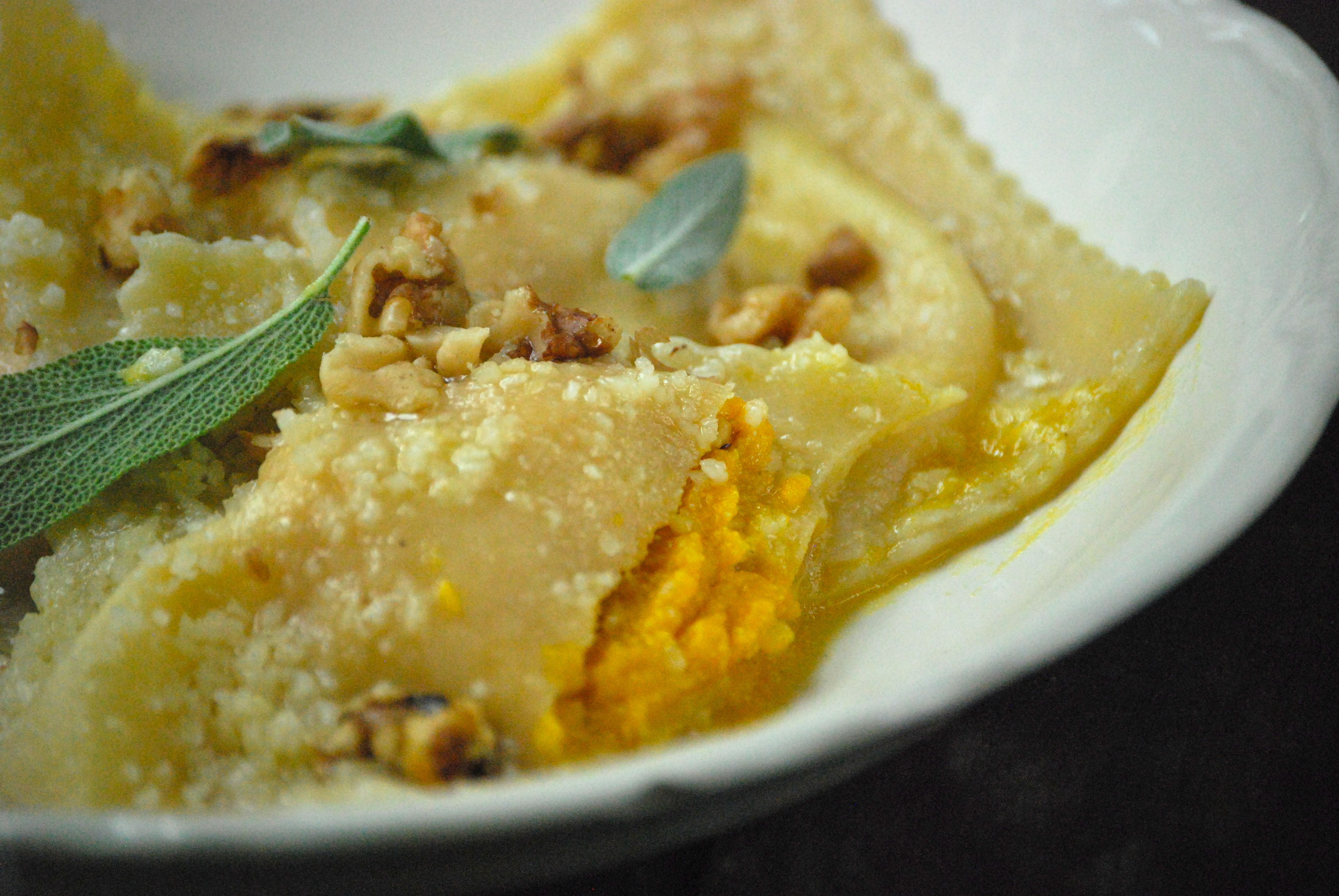 Squash Ravioli with Browned Butter Sage Sauce | Relishing It