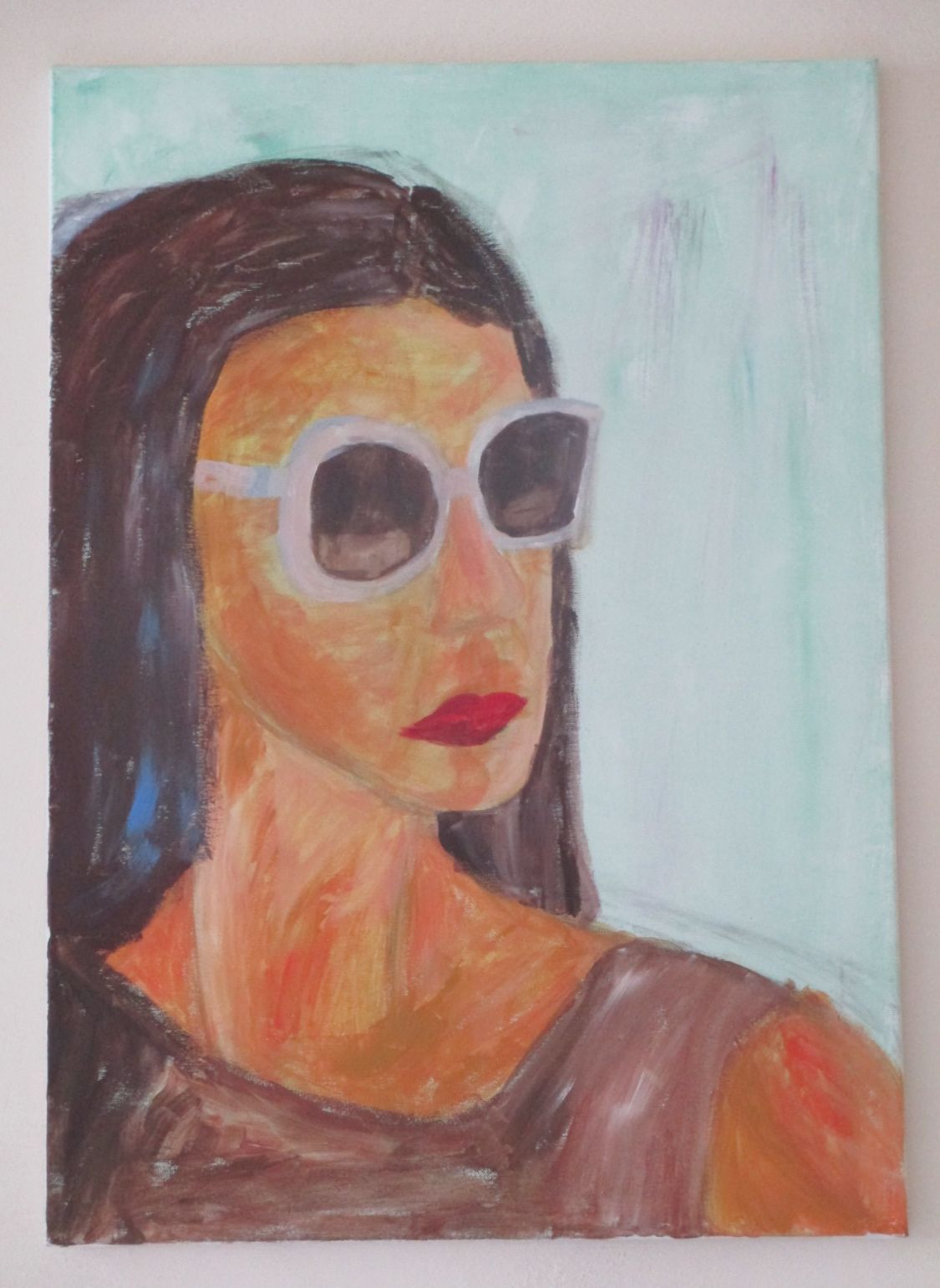 """""""Geheimnissvolle Fremde"""" by AbstrART painting, acryl, abstract, woman"""