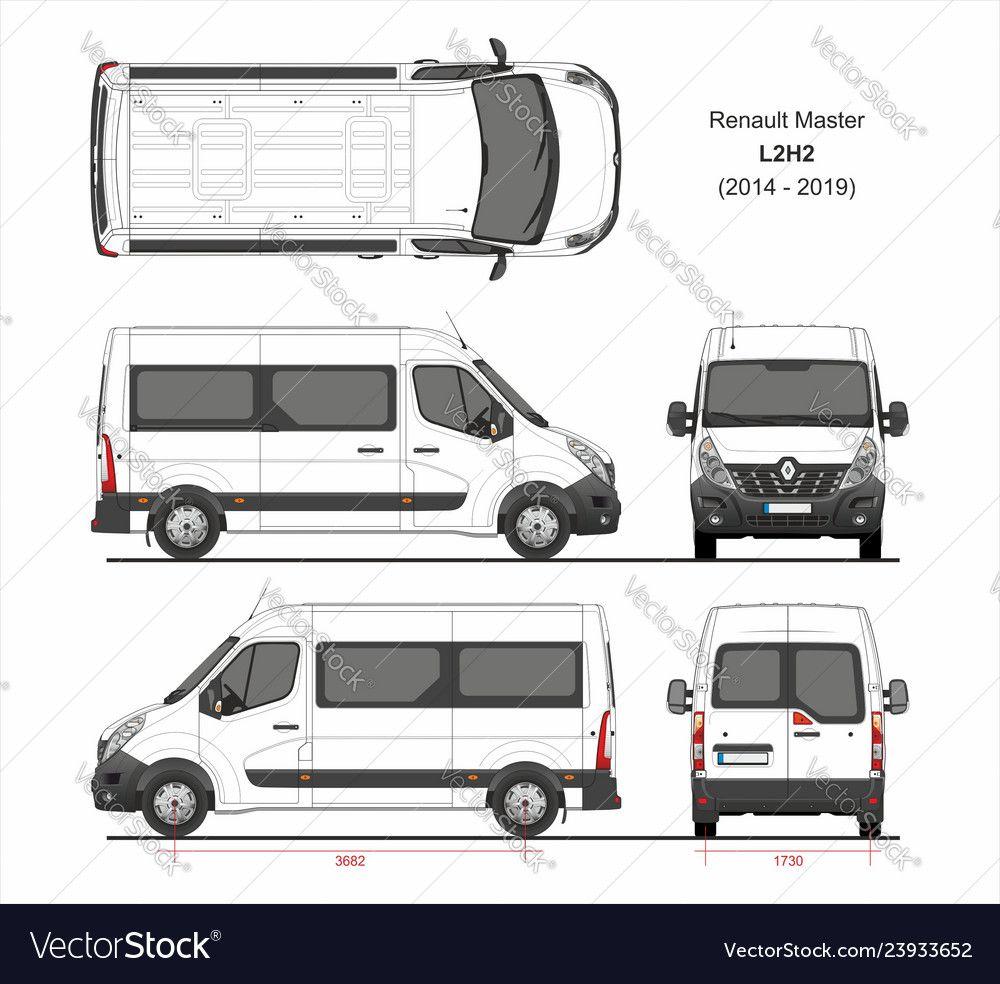 Renault Master Passenger Van L2h2 2014 2019 Vector Image Ad Passenger Van Renault Master Ad Renault Master Van Renault Kangoo