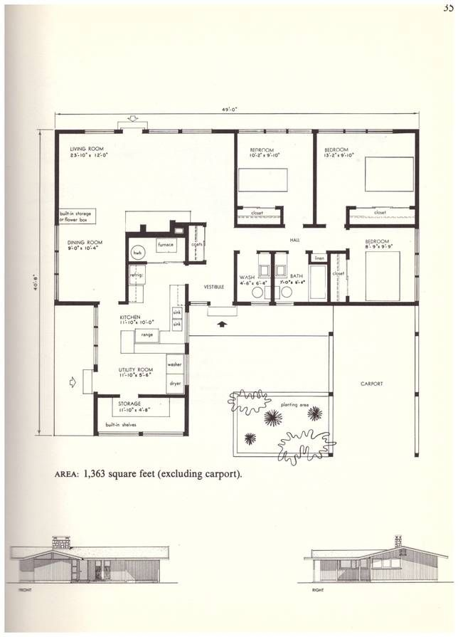 there s lots to learn from these small house plans from the 60s rh pinterest com