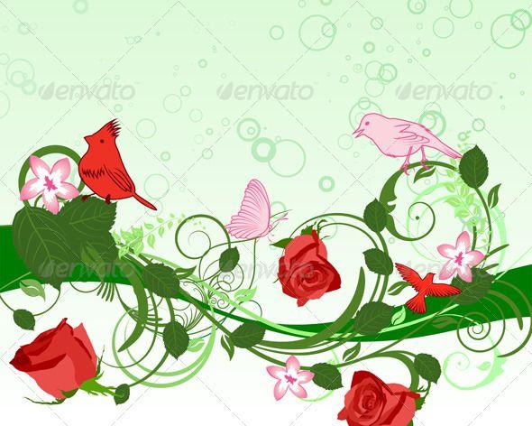 DesertRose,;,Floral Background ,;,