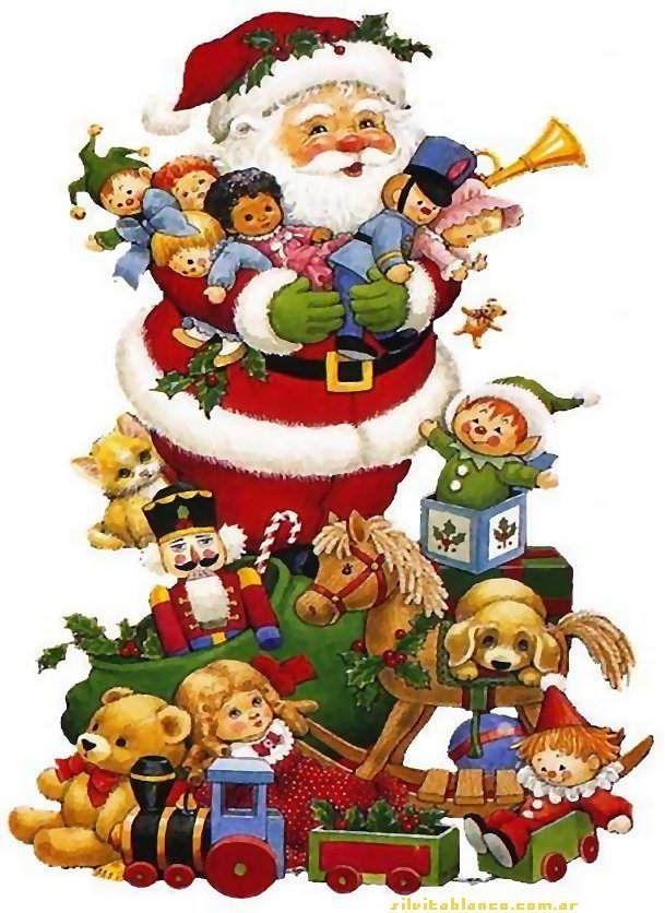 Sgblogosfera Maria Jose Argueso Silvita Blanco Papa Noel Christmas Cutouts Animated Christmas Christmas Scenes