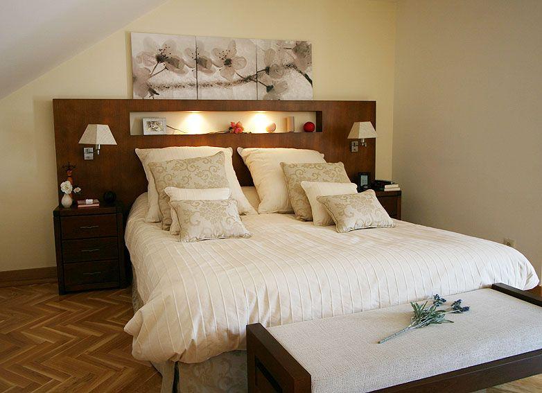 Cabeceras de camas de madera buscar con google ideas - Cuadros cabecera cama ...