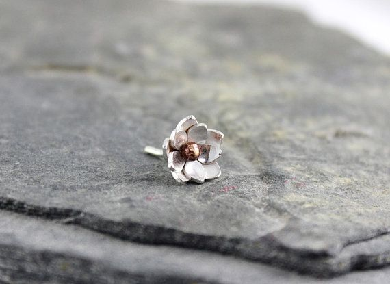 Sterling Silver Lotus Helix earring Helix piercing by HapaGirls, $18.00