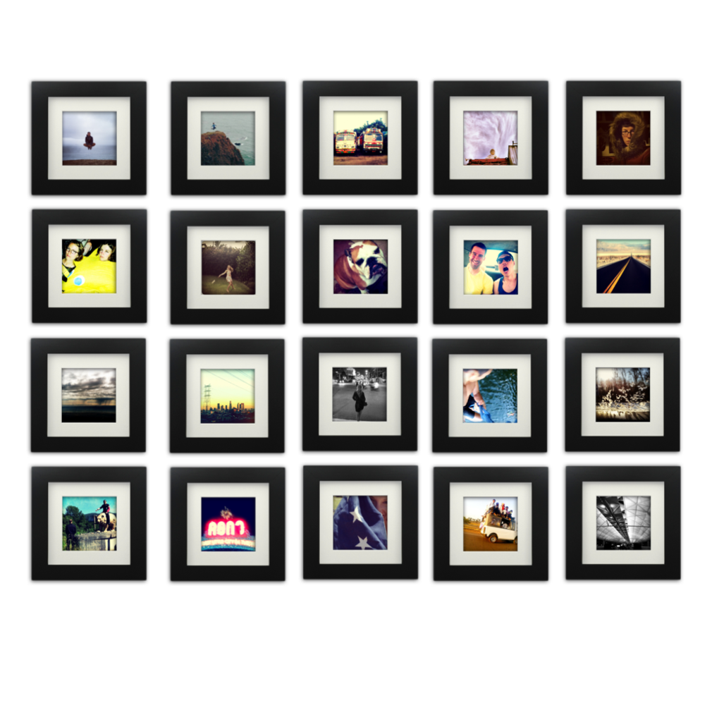 20 Pack Black 6x6 Photo Frame 4x4 Matted Picture Frame Wall
