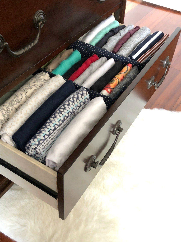 diy fabric drawer dividers bedroom closet organization clothes rh pinterest com