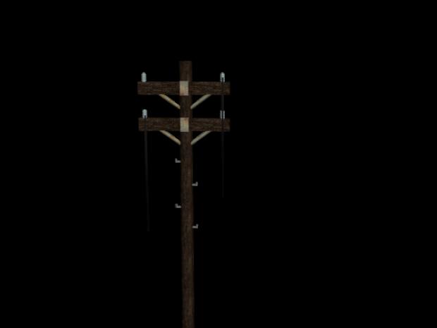 Wooden Power Pole 3d Model 3d Model Model Wooden
