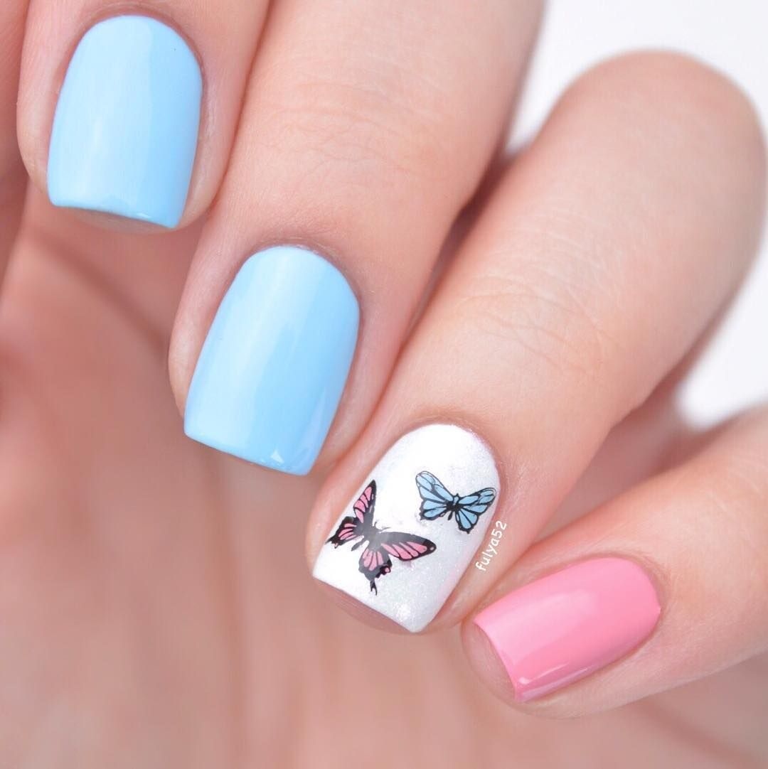"""Fulya on Instagram """"butterfly mani inspired by son_nail"""