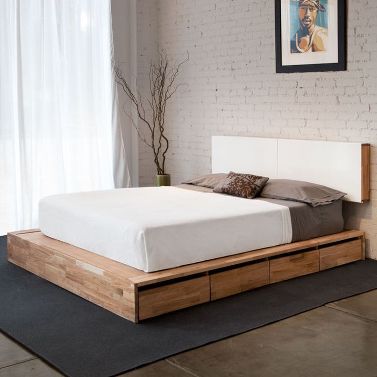 28 Simple And Elegant Mid Century Modern Beds Bed Design