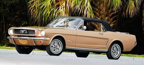 old gold 1966 ford mustang convertible mustang classics rh pinterest com 1966 ford mustang gt a code